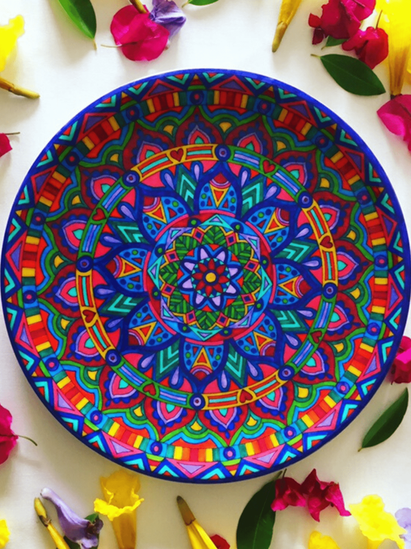 Unique homewares - colourful and hand painted dinnerware that is perfect for entertaining