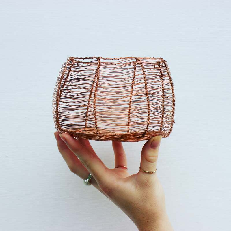 Australian homewares - handcrafted copper basket