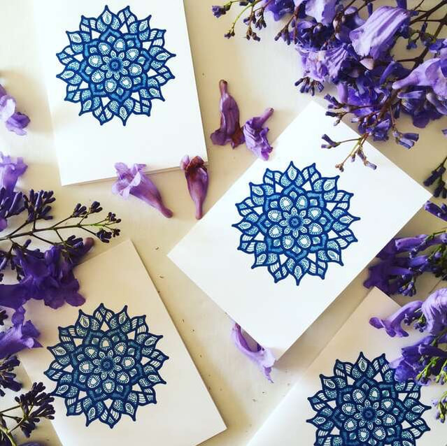 Beautiful, bespoke gift cards styled with fresh flowers