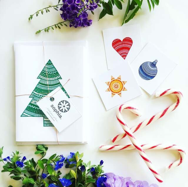 Delicious treats and handcrafted cards for Christmas
