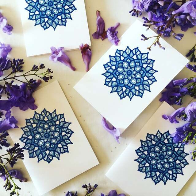 Ethical and sustainable gift cards - Coastal Blues design