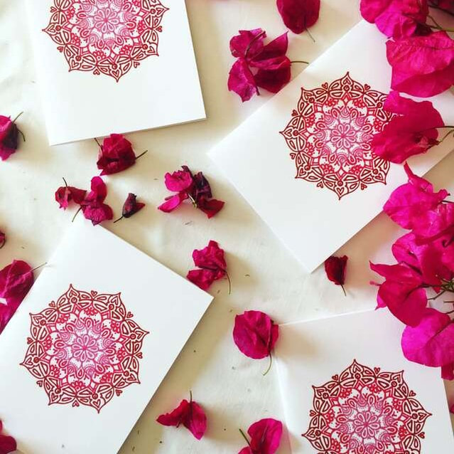 Ethical and sustainable gift cards - Mystery Pink design