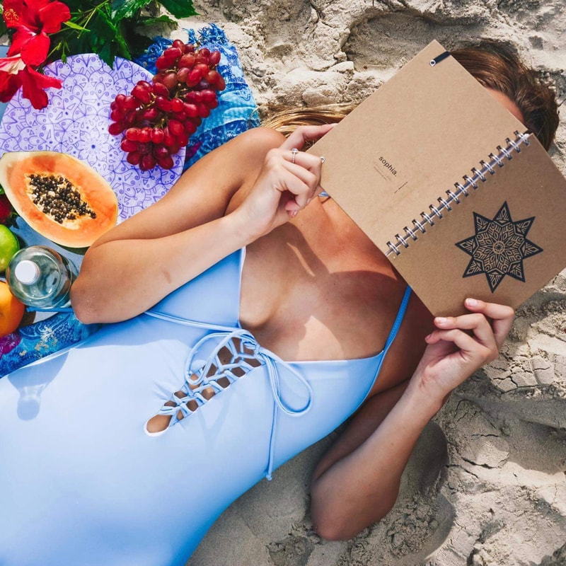 Day at the beach with sustainable and ethical stationery and homewares