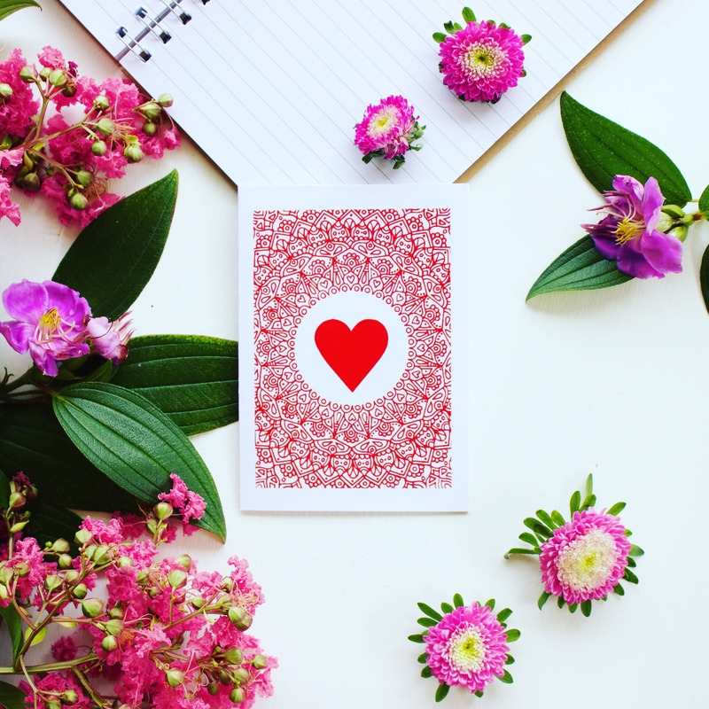 Ethical giftware - Valentine's Day gift card made with recycled materials